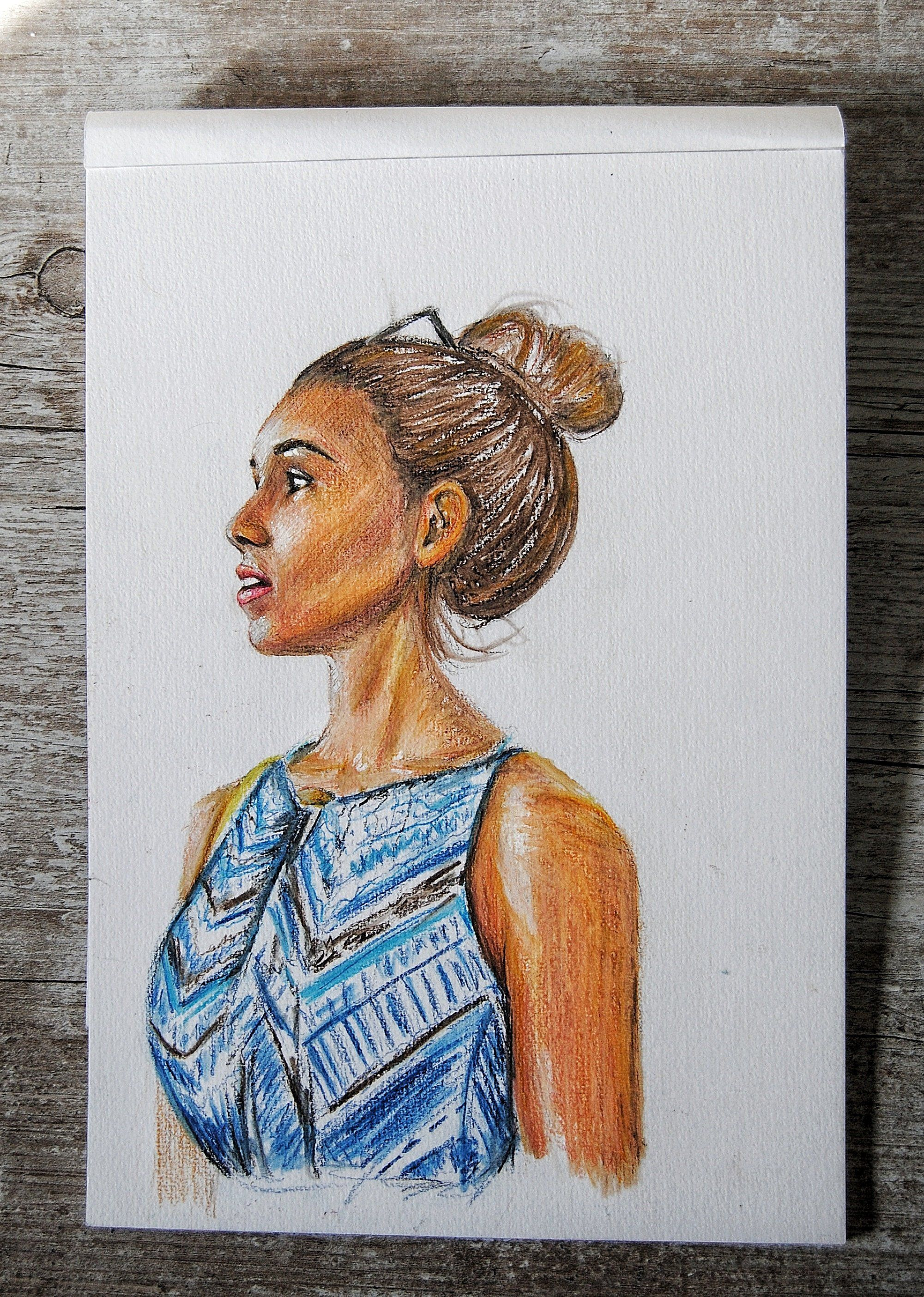 Custom Hand Draw Portrait. Drawing. Colored Pencil Drawing ...
