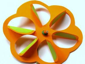 make paper pinwheels semicircles crafts