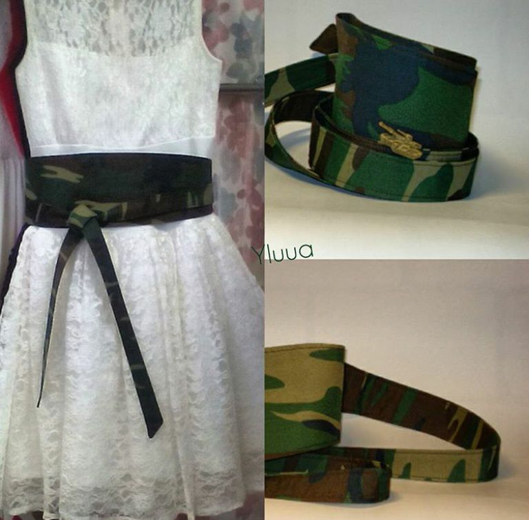 fashion skirt belt clothes camouflage sash accessorizes trend dress handmade