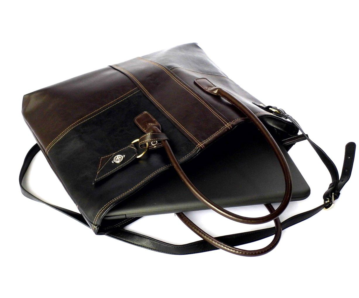 bc7301374eb3 bag birthday leather brown vegan gift laptop black tote christmasgift faux  large her