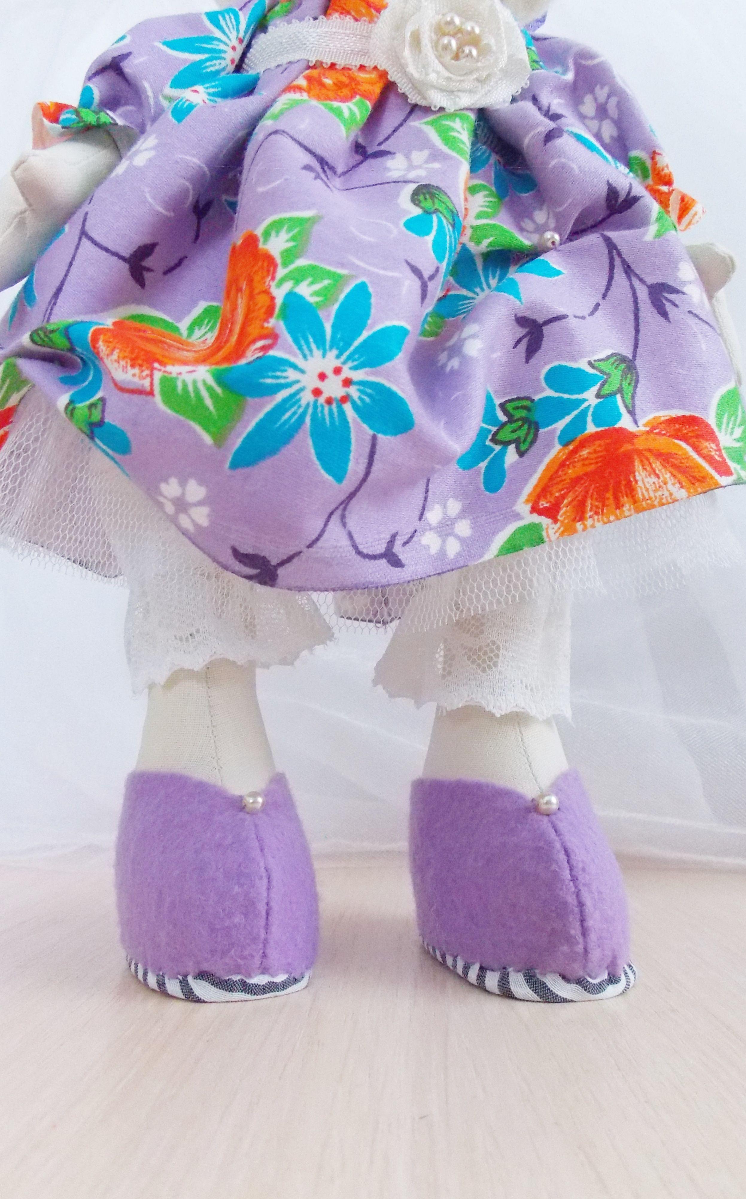 textile snowflake interior doll