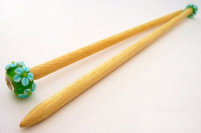 needles make wooden knitting handicrafts