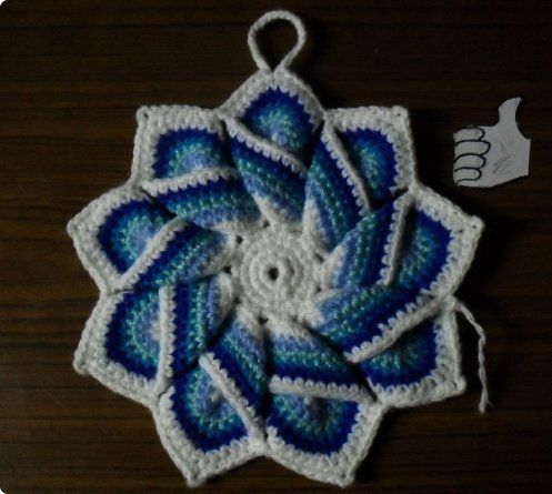 potholders goods crochet textile thread