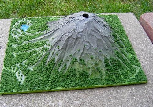 eruption volcano make unusual model