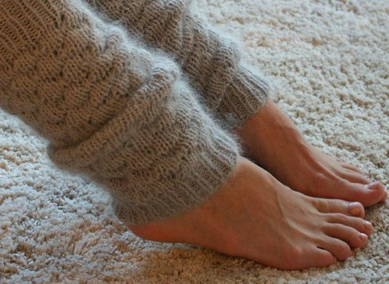goods textile knit leg warmers