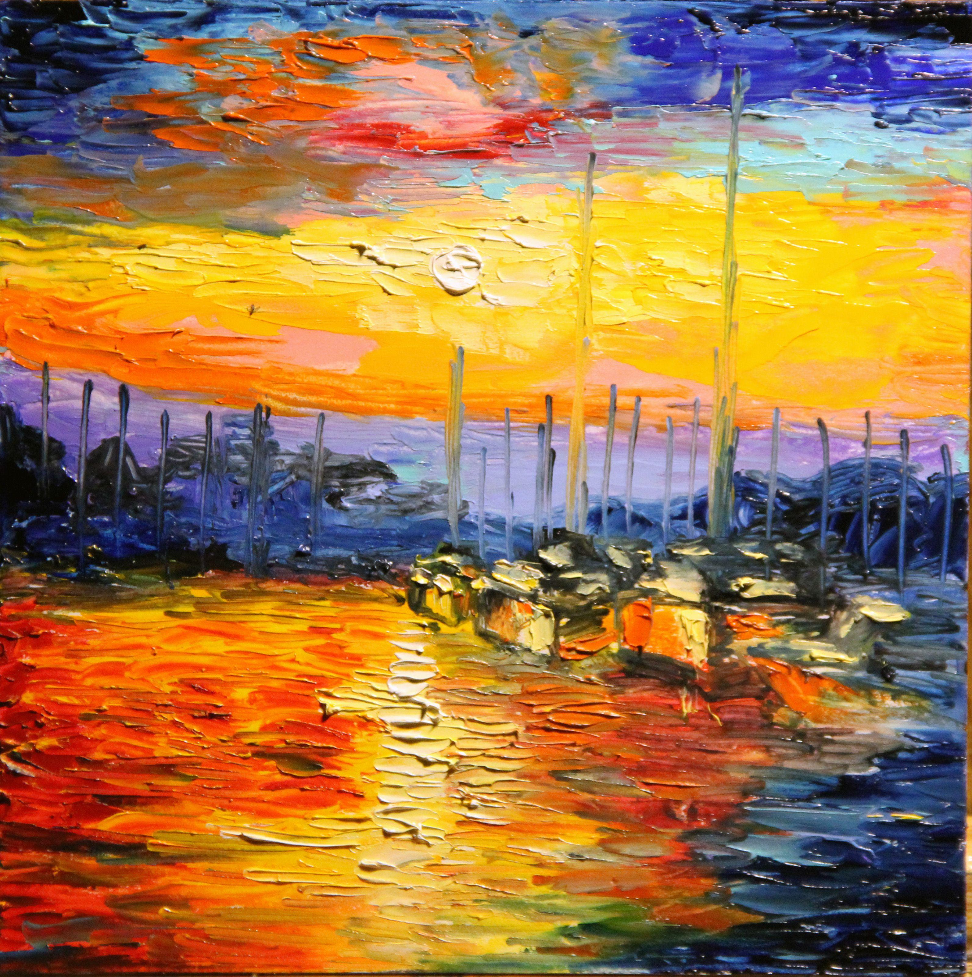 landscape oil sea canvas portrait painting art