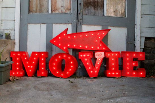 vintage plastic letters light make