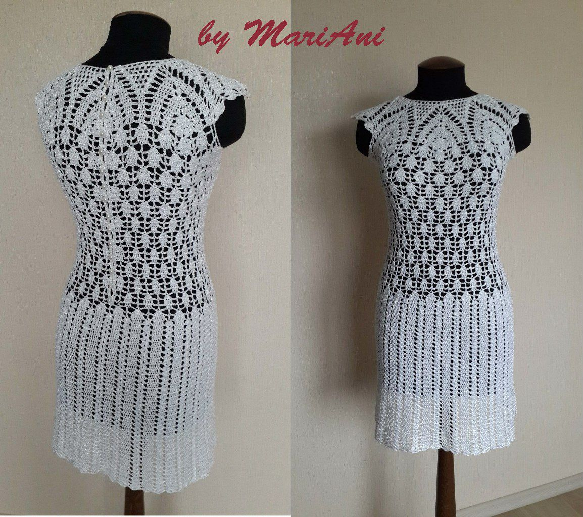 handmade dress knitted hooked