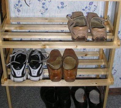 instruction shoe make wooden rack