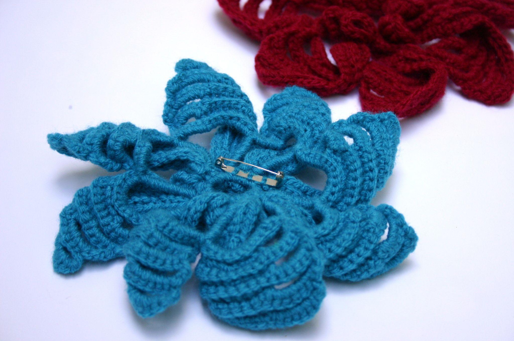 patches casual brooch boho crochet pins jewelry pattern yarn handmade lace flower pinback