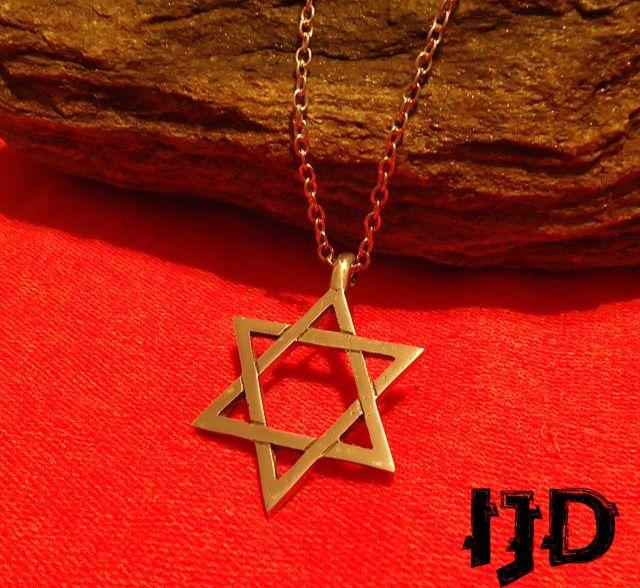 Star Of David David Star Necklace Silver David Star Heksagram