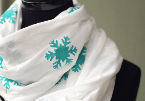 infinity make scarf clothing snowflakes