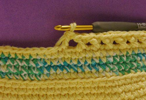 goods crochet textile pattern basket