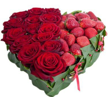 original flowers gift bouquet strawberries