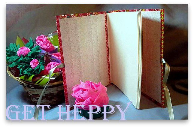 paper stripes bright notepad