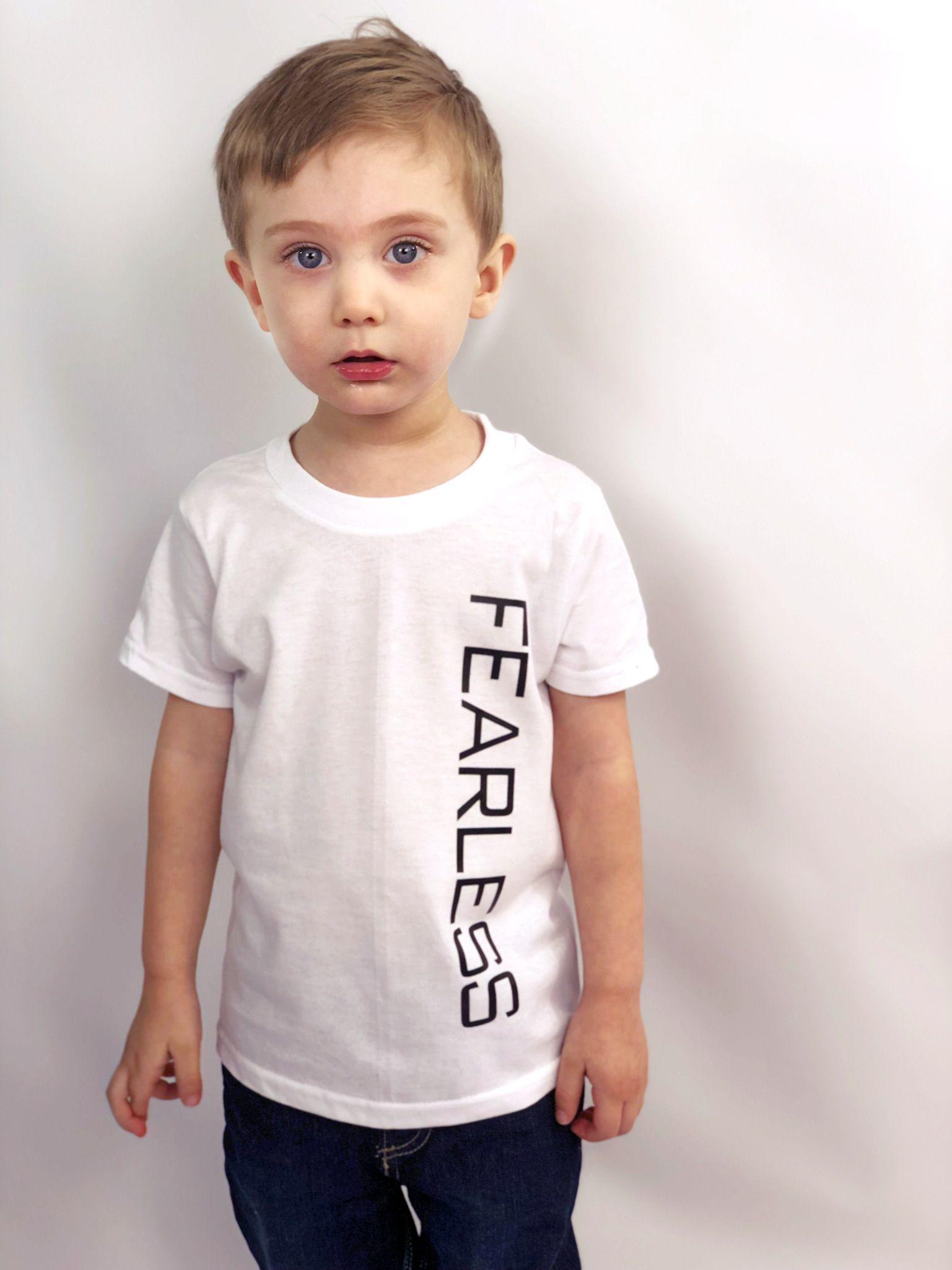 boy girl tee toddler fearless strong tshirt