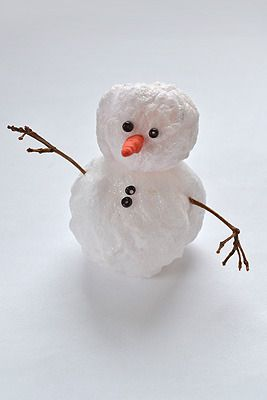 cottony instruction holidays snowman make