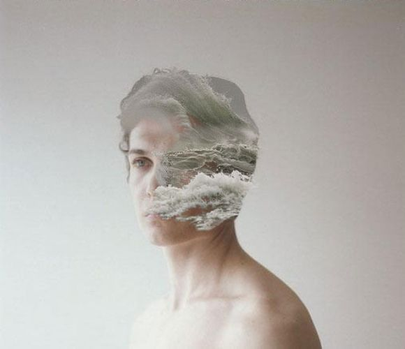 digital beauty art modern collage