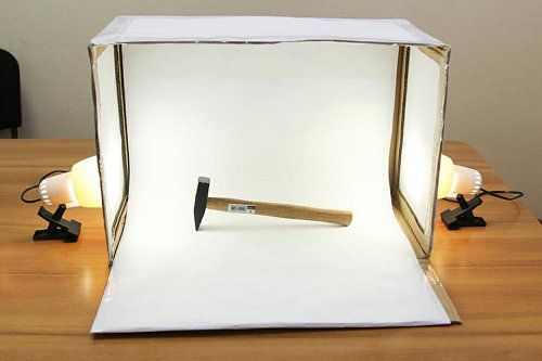 device make light box photography