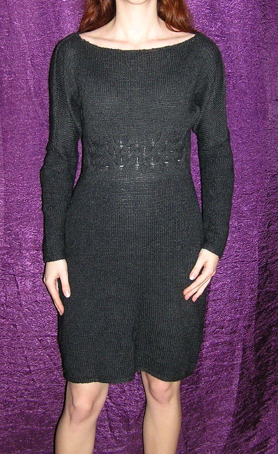 clothes knitting black dress winter