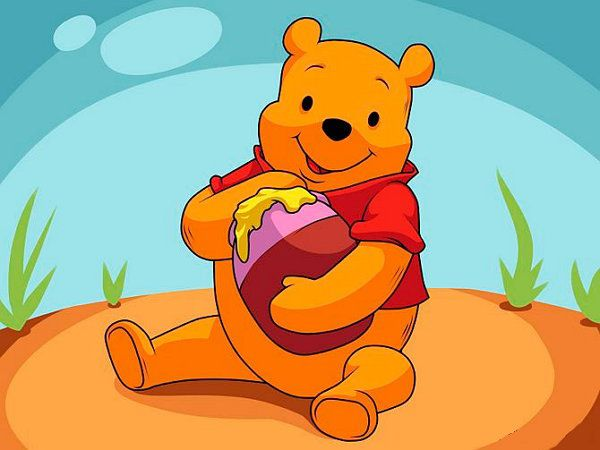 pooh art colour draw winnie