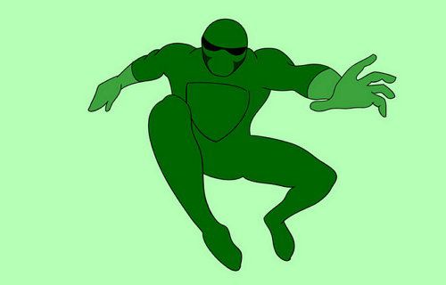 simple superheroes draw cartoon art