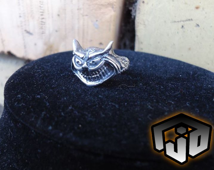 cat silver ring jewelry golden rings fantasy custom alice wonderland cheshire