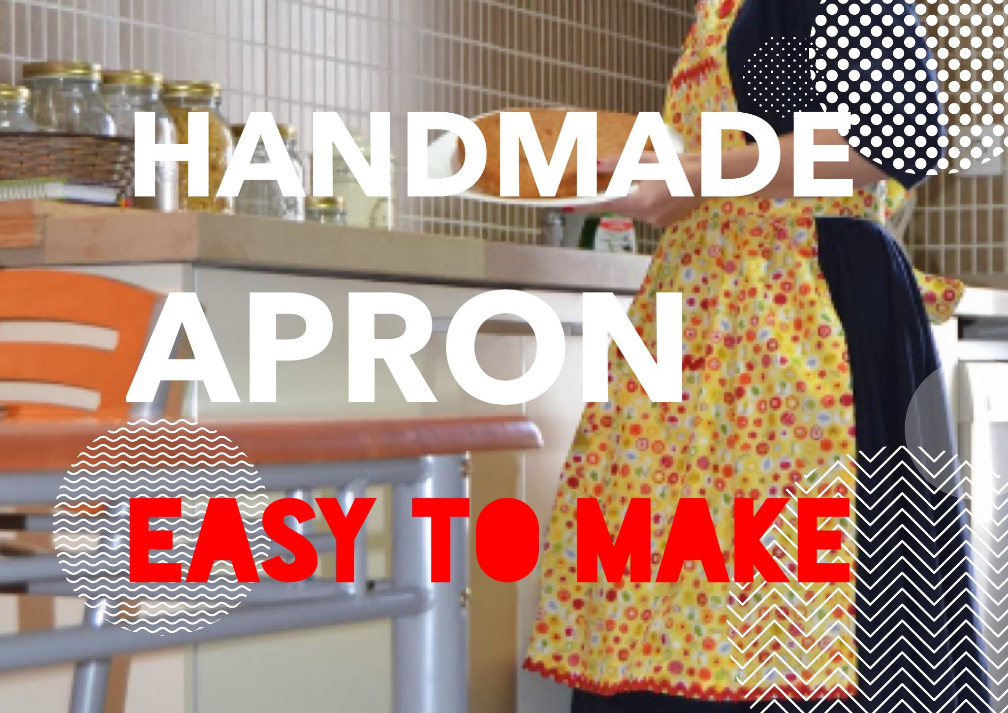 diy easy tutorial make apron kichen