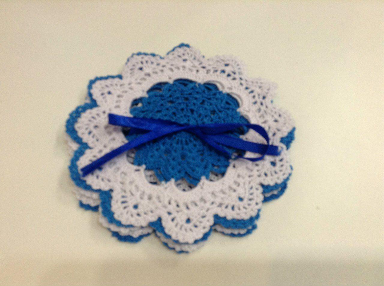 interior blue kitchen pads white knitting