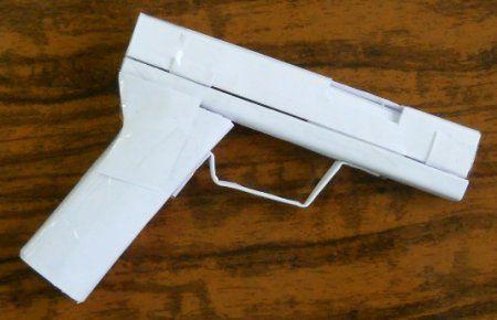 gun origami crafts paper make