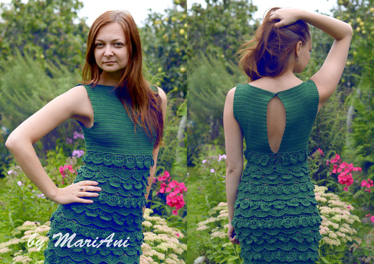knitted lace handmade dress