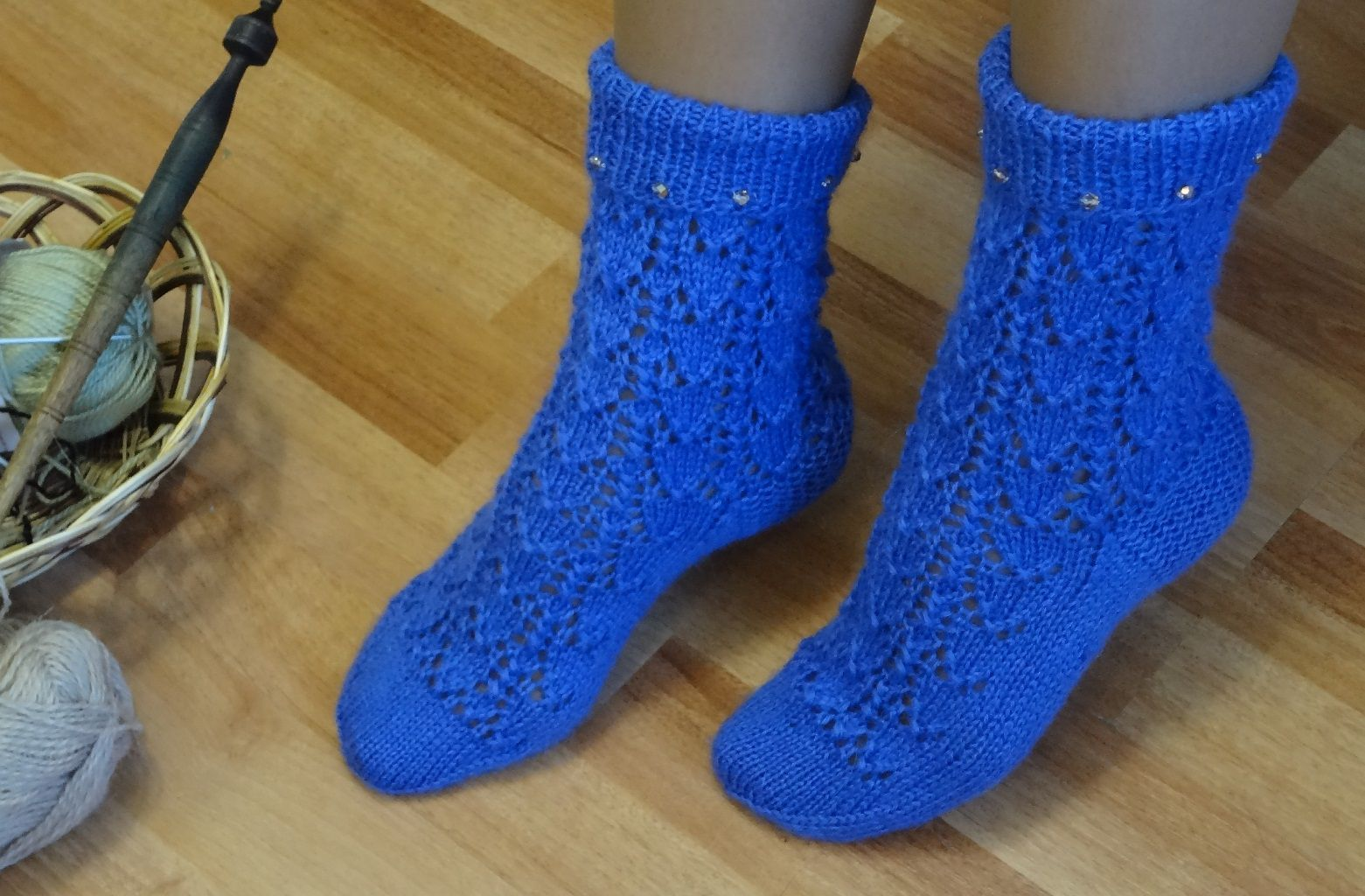 gift warm knitted socks frost
