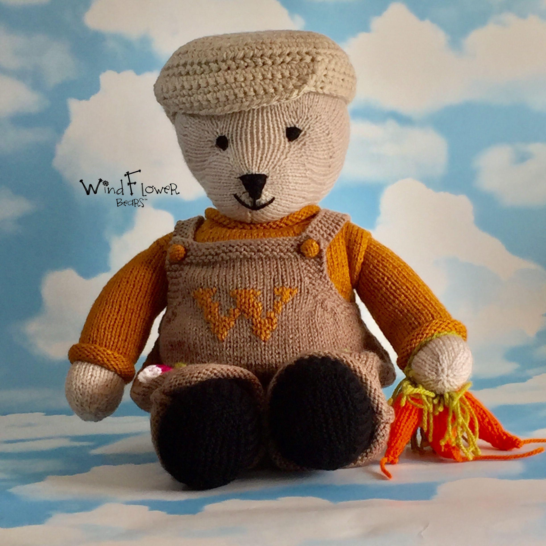 gift gardening bear handmade