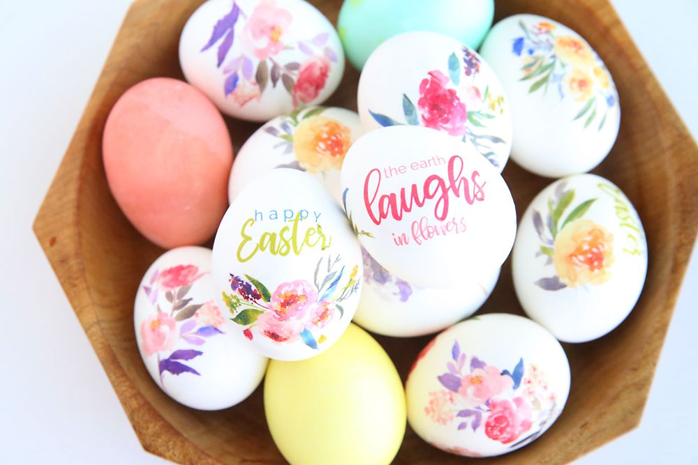 food eggs holidays cute diy easter floral tattoo