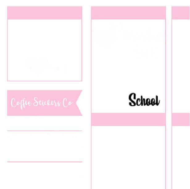 stickers school planner erin condren