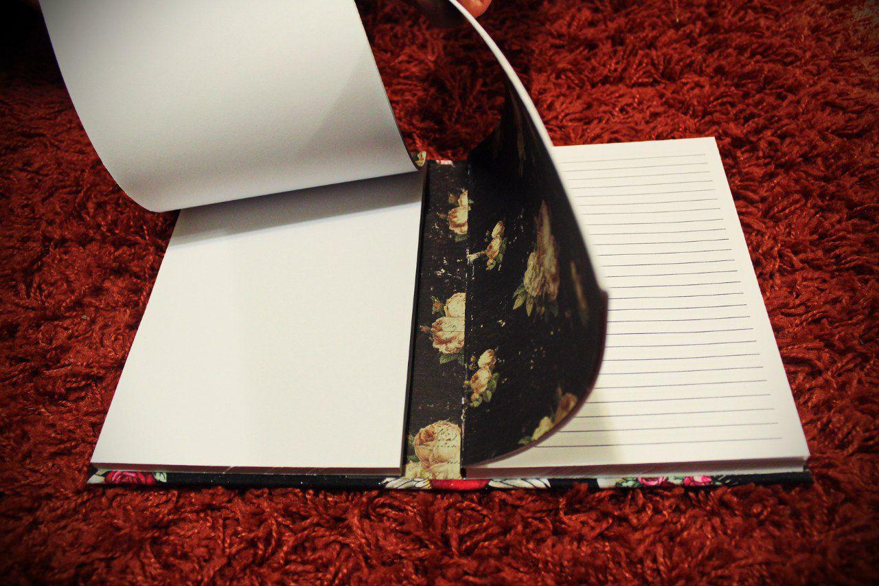 newschool vintage notebook fabric