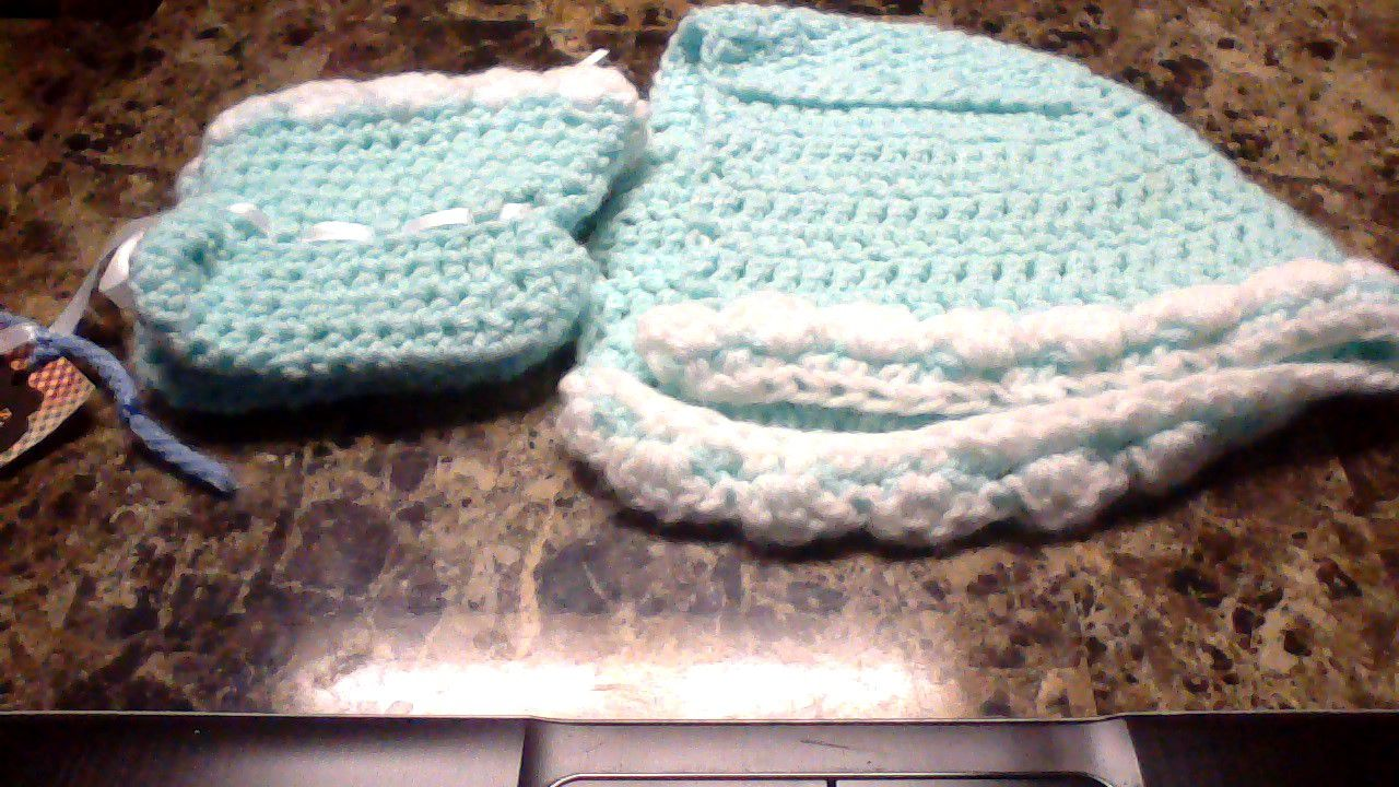 baby and booties hat