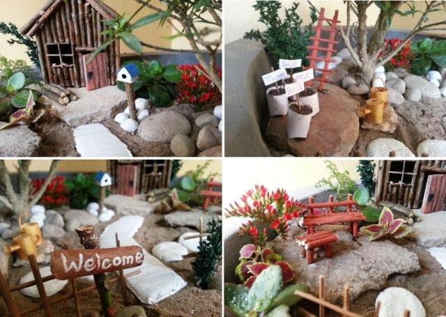 make flower miniature fairy garden pot