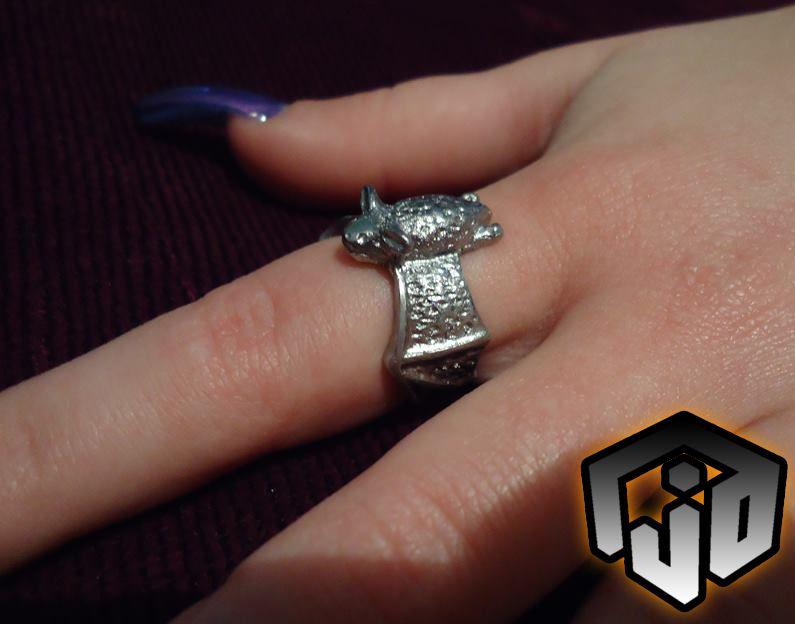 bat vampire halloween flight wing jewelry silver ring
