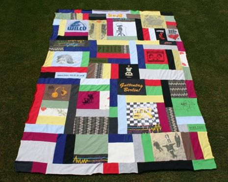 patchwork make style quilt tshirt