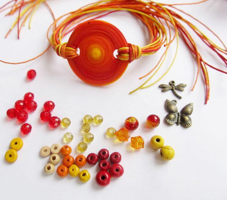 autumn jewelry bracelet beads clay