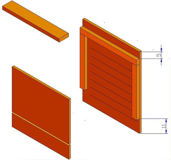 bat wooden house design assembling