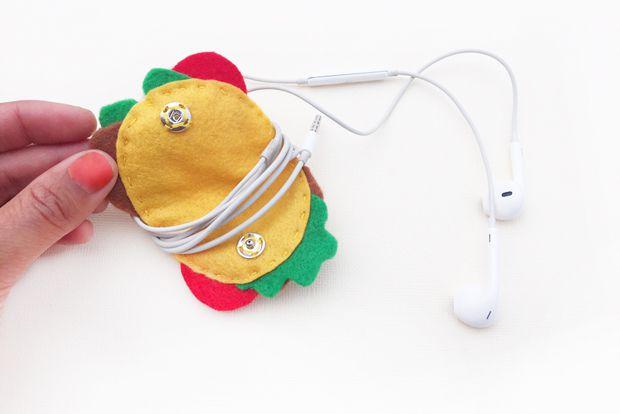 abbihome taco earphones diyholder