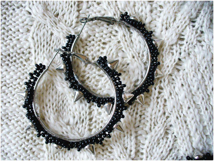 accessories spikes black earrings jewelry