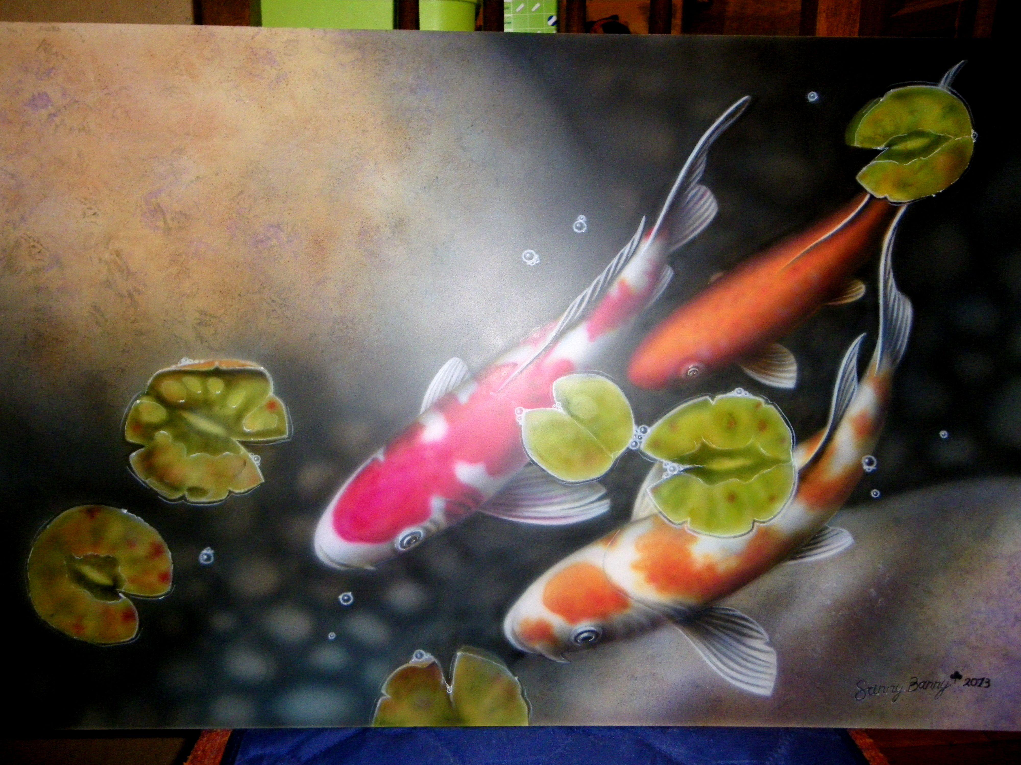 aerographics fish acryl painting