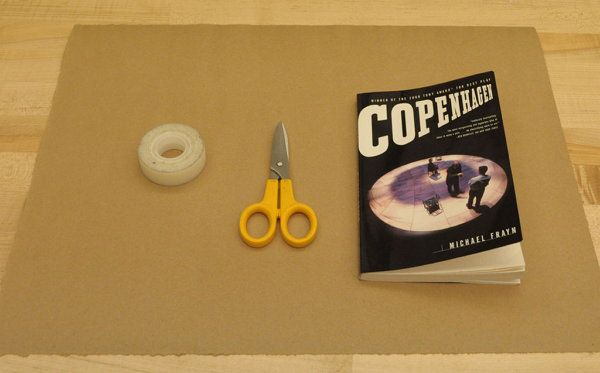 how to make a paper book cover