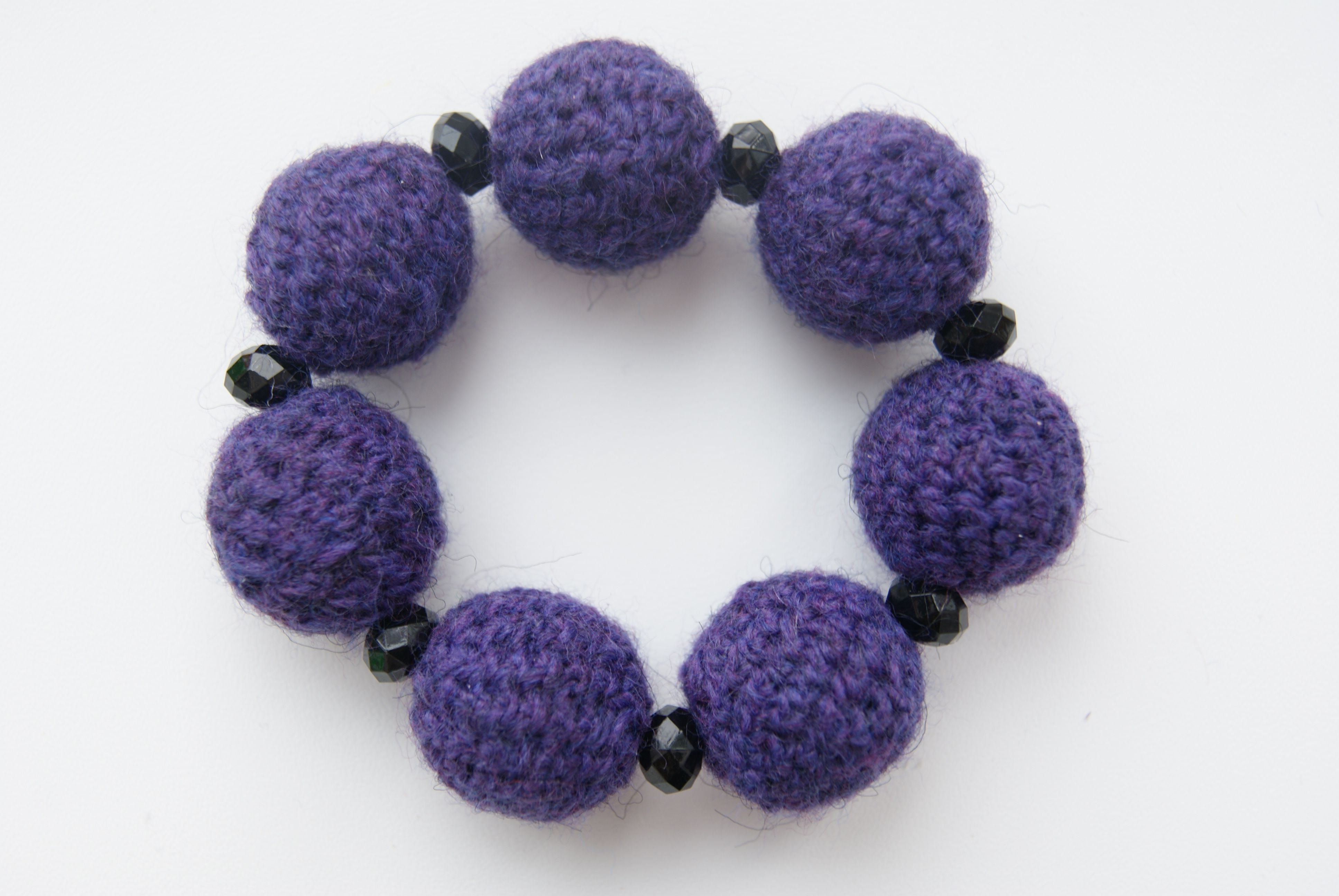 accessories violet knitting wristlet beads