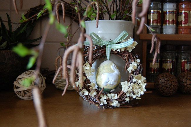 make holidays decoupage wreath easter