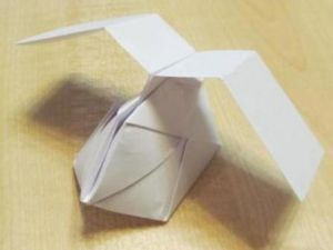 technique origami paper make helicopter