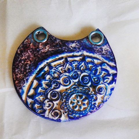pendant unusual idea faux polymerclay handmade jewelry tutorial